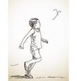 running child vector image