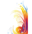 background of color brush strokes vector image vector image