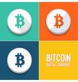 Bitcoin icons set vector image vector image