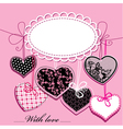 holiday background with black and pink hearts vector image vector image