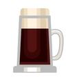 Beer cup glass vector image
