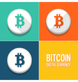 Bitcoin icons set vector image