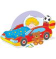 Boy sleeping vector image