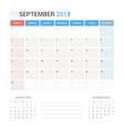 calendar planner for september 2018 vector image