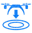 Copter arrival grunge icon vector image
