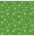 Dark green seamless clover pattern vector image