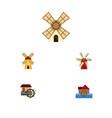 flat icon energy set of wheel propeller ecology vector image