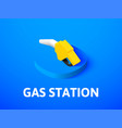 gas station isometric icon isolated on color vector image