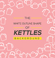 Kettles Background vector image