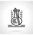 Lab flask black line icon vector image