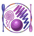 rhythmic gymnastics equipment vector image