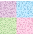 romantic seamless patterns vector image