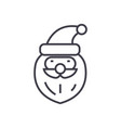 santa claus head concept thin line icon vector image