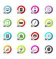 university icons set vector image