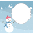Snowman Winter Card vector image