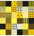 Yellow patchwork pattern vector image