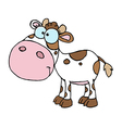 Cartoon Character Calf Different Color White vector image vector image
