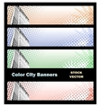 Banners on city theme vector image vector image