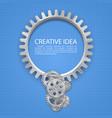 engineering gear idea on paper vector image