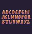 3d cartoon font vector image