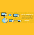 internet data protection banner horizontal concept vector image