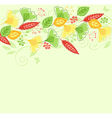 background with green and yellow leaves vector image vector image