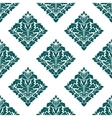 Arabesque floral seamless pattern background vector image vector image