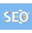 SEO internet searching optimization process vector image vector image