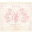 elegant wedding invitation with wedding couple vector image vector image