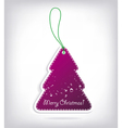 christmas tree shaped invitations with bow vector image