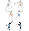People playing tennis vector image vector image