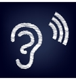 Human ear sign vector image