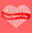 mother rose heart pink vector image