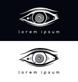 eye vision logotype vector image