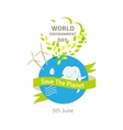 World environment day  Green vector image