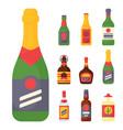 alcohol drinks beverages cocktail bottle lager vector image