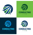 consulting firm icon and logo vector image