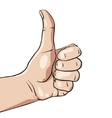 hand with like sign vector image