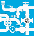 Water pipes and taps vector image