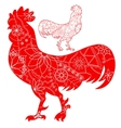 Cocks red set vector image