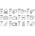 Journalism line icon set vector image