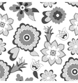 Flower pattern background vector image vector image