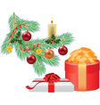 branche decorations two gifts vector image vector image