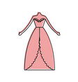 female wedding dress icon vector image