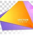 Colorful tech shiny flyer design vector image