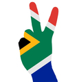 South African finger signal vector image