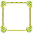 childrens frame on white background vector image vector image