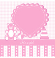 baby girl shower invitation ca vector image vector image