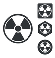 Radiohazard icon set monochrome vector image