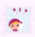 christmas child vector image vector image